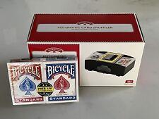 New ListingAutomatic Card Shuffler 1-2 Decks Poker Blackjack Texas Hold'em w/ Playing Cards