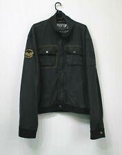 ALPHA INDUSTRIES Field Black Zip Jacket Cotton Army Military Mens Size 5XL