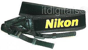 "For Nikon Wide Camera Strap 1.5"" F100 F5 F6 F90 F70 FM New Yellow on Black DSLR"