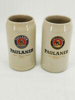 2 Bierkrüge Bierkrug Bierseidel Sammlkrüge Aufdruck Paulaner München 1 Liter