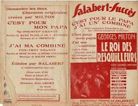 Ancienne Partition le Roi des Resquilleurs parodie c'est pour mon papa 1930