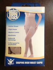 The Biggest Loser Shapewear Shaping High Waist Capri,L,Nude
