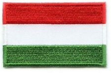 Hungary Flag Small Iron On / Sew On Patch Badge 6 x 3.5cm Magyarország AIRSOFT