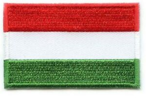 Hungary Flag Small Iron On / Sew On Patch Badge 6 x 3.5cm Magyarország AIRSOFT