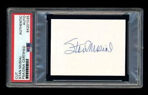 STAN MUSIAL SIGNED MINT CUT PSA/DNA AUTOGRAPHED ST LOUIS CARDINALS 1946 WSC MVP