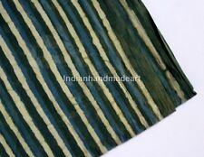 Indian Blue Indigo Hand Block Print 100% Cotton Fabric Dressmaking Sewing