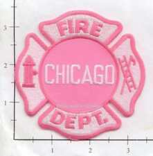 Illinois - Chicago IL Fire Dept Patch v5 - Pink - Breast Cancer