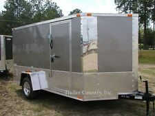 New 2022 6x12 6 X 12 V Nosed Motorcycle Enclosed Cargo Trailer