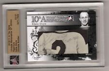 EDDIE SHORE 10/11 ITG Ultimate PAPERCUTS AUTO Autograph #'d 1/1 Boston Bruins SP