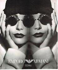 PUBLICITE ADVERTISING  1994   EMPORIO  ARMANI   collection lunettes