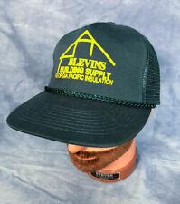 Vtg Blevins Building Supply Trucker Hat Teal Baseball Cap Local Business Ga