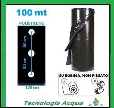 PACCIAMATURA TELO IN LINEA FORI A 80 cm  BOBINA 100 X 1 MT FILM PACCIAMANTE ORTO