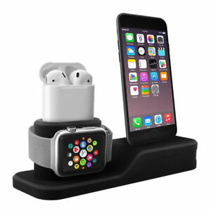 3in1 Charging Dock Station Holder Stand For Appl e Watch iWatch AirPods i Phone