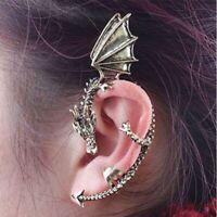 Vintage Gothic Rock Punk Schnur Drachen Form Ohr Manschette Ohrring Schmuck