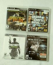 PS3 VIDEO GAME LOT OF 4 NFS THE RUN COD MODERN WARFARE MGS V GROUND ZERO GTA V