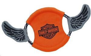 "Harley-Davidson 16.5"" Orange/Grey Bar & Shield Canvas/Rope Flyer H8300 H K12DOG"