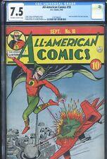 ALL-AMERICAN COMICS #18 - CGC-7.5, OW-W - Scarce! - 3rd Green Lantern