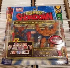 Marvel Super Showdown Spider-Man VS The Thing Starter Set FACTORY SEALED