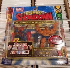 Marvel Super Showdown Spider-Man VS The Thing Starter Set FACTORY SEALED
