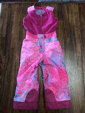 Spyder Bib Snow Pants Ski Pink Girls 4 Toddler Small To Tall Winter Child size 4
