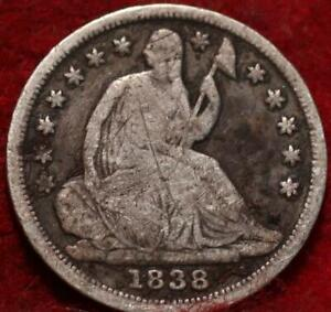 1838 Philadelphia Mint Silver Seated Half Dime