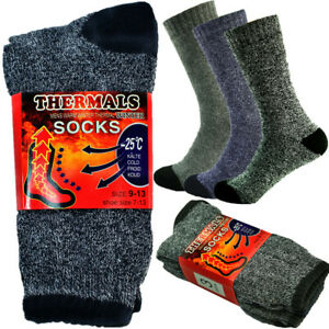 9 Pairs Mens Winter Thermal Knitted Cotton Heavy Duty Warm Boots Socks Size 9-13