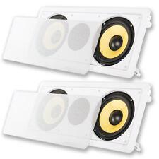 "Acoustic Audio HD6c In-Wall Dual 6.5"" Speakers Home Theater 2 Speaker Set"