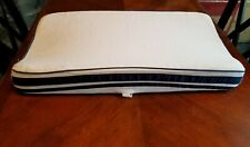 Pottery Barn Kids changing pad cover, white w/ navy blue stripe