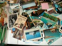 Lot of 25 Vintage Postcards Mixed Assortment Many very old Some with Stamps C2-D