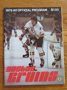 BOSTON BRUINS vs QUEBEC NORDIQUES 2-2-1980 Program RAY BOURQUE PETER McNAB