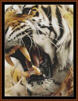 LUNCHTIME cross stitch pattern PDF (point de croix) (tiger)