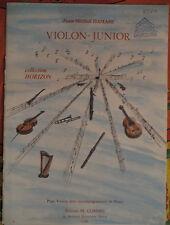 """Partition pour violon et piano, """"violon junior"""" de jean-michel Damase"""