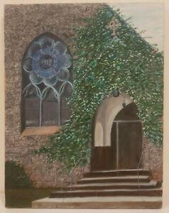 "Grace Episcopal Church Haddonfield, New Jersey Signed R.W. Nickol (18"" x 14"")"