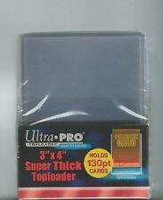 20 -  Ultra Pro 3 x 4 130pt Premium Topload Card Holders SUPER THICK