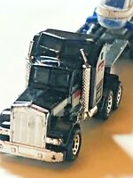 MATCHBOX KENWORTH AERODYNE ARTIC MINT with flatbed and helicopter die cast