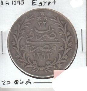 Egypt 20 Qirsh AH1293 VF Very Fine