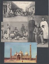 More details for seventeen vintage printed postcards india indian people and places unchecked