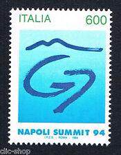 ITALIA 1 FRANCOBOLLO VERTICE DEI G7 NAPOLI SUMMIT 1994 nuovo**