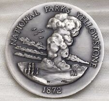 1872 Yellowstone National Parks Longines Symphonette Sterling Silver Medal