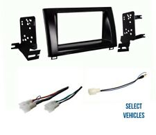 Double Din Car Stereo Radio Install Dash Kit Combo for 2014-2016 Toyota Tundra