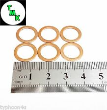 M10 X 14mm Copper washers. 6 pack. Suitable for Banjo bolts & Fittings Sealing