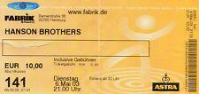 Eintittskarte, concerto mappa, Ticket-Hanson Brothers - 2003-Amburgo