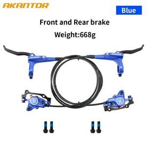 AKANTOR Bike Hydraulic Disc Brake Set With Calipers Brake Disc Rotor Fit Shimano