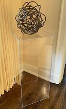 """Contemporary Lucite Display Cube Pedestal 18"""" x 42""""h"""