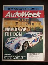 Autoweek Magazine December 1997 Empire of the Don Panoz (AA) Y5