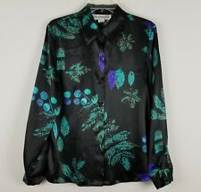 Norton McNaughton professional polyester long sleeved button front blouse sz 10