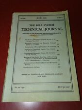 Bell System Technical Journal, July, 1926, Western Electric, Victor Orthophonic
