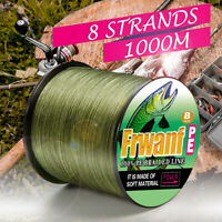 Braided fishing line 1000m Super Strong 8 strands Japan Multifilament PE braid