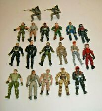 """Lot of 19  4"""" Poseable Army Military Type Action Figures Lanard Chap New Line +"""