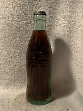 FULL 6oz COCA-COLA PAT-D HOBBLESKIRT EMBOSSED SODA BOTTLE BURLINGTON, N.C.